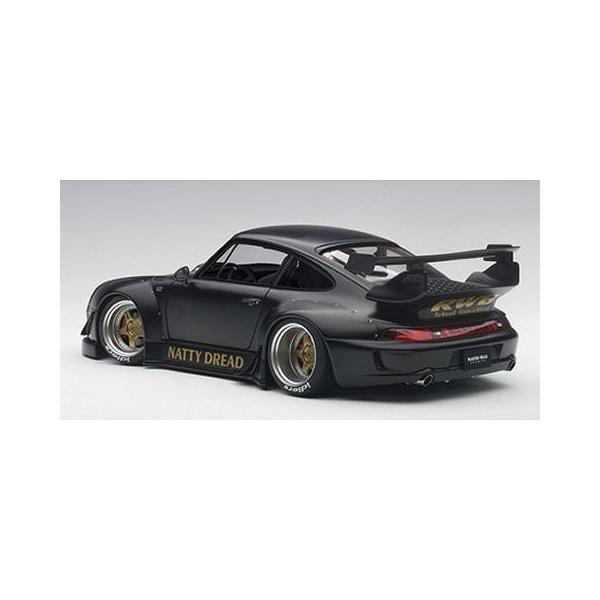 RWB 993 マットブラック/ガンメタ・ホイール (1/18 オートアート78154)|v-toys|04