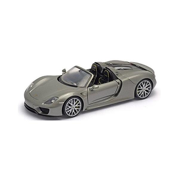 ポルシェ 918 スパイダー コンバーチブル シルバー (1/18 ウエリーWE18051CS)|v-toys