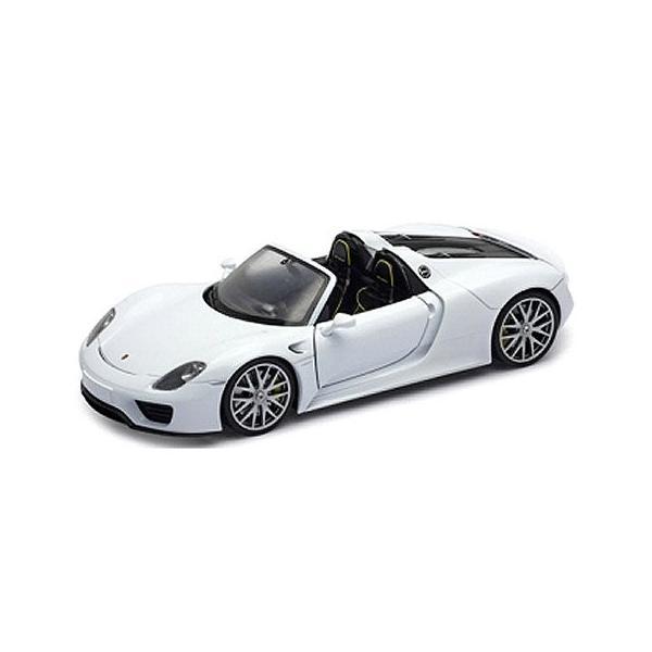 ポルシェ 918 スパイダー コンバーチブル ホワイト (1/18 ウエリーWE18051CW)|v-toys