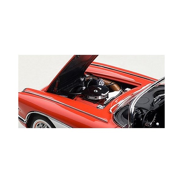 シボレー コルベット 1958 レッド (1/18 オートアート71148)|v-toys|02