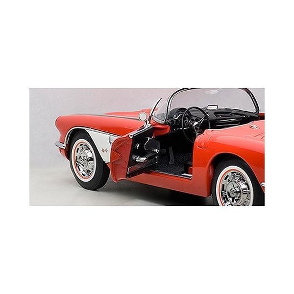 シボレー コルベット 1958 レッド (1/18 オートアート71148)|v-toys|03