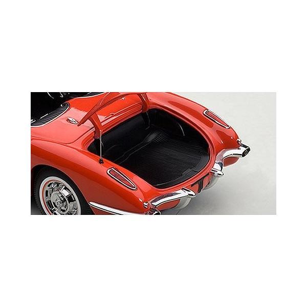 シボレー コルベット 1958 レッド (1/18 オートアート71148)|v-toys|04