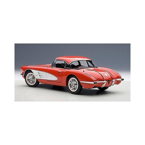 シボレー コルベット 1958 レッド (1/18 オートアート71148)|v-toys|05