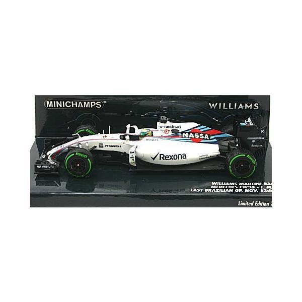 ウィリアムズ マルティニ レーシング メルセデス FW38 フェリペ.マッサ引退レース 11月13日 ブラジルGP 2016 (1/43 ミニチャンプス417160119) v-toys