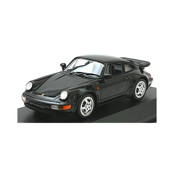 ポルシェ 911 ターボ (964) 1990 ブラック (1/43 ミニチャンプス940069101)|v-toys