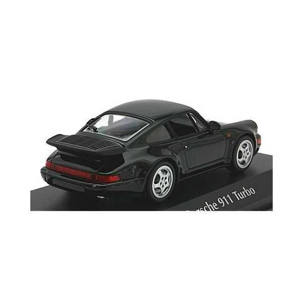 ポルシェ 911 ターボ (964) 1990 ブラック (1/43 ミニチャンプス940069101)|v-toys|02