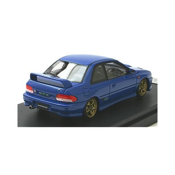 スバル インプレッサ WRX タイプR Sti Ver.1997(GC8) ソニックブルーマイカ (1/43 マーク43 PM4357BL)|v-toys|02