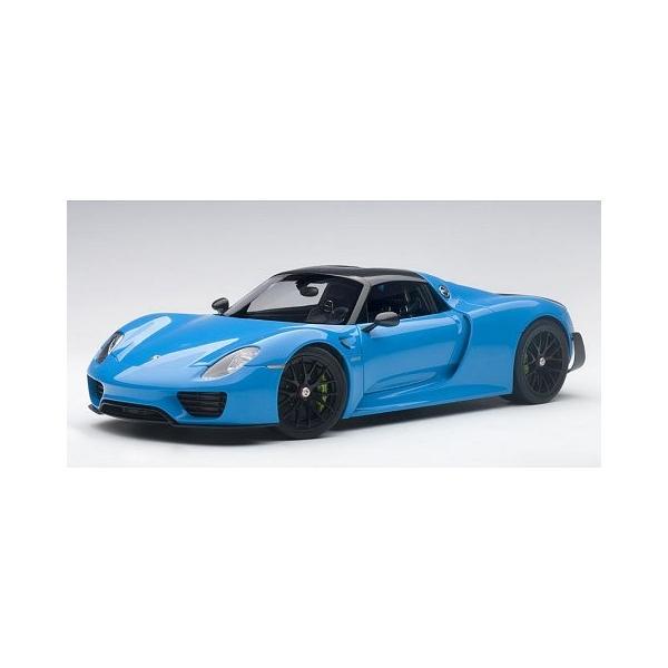 ポルシェ 918 スパイダー バイザッハ・パッケージ ライトブルー (1/18 オートアート77924)|v-toys