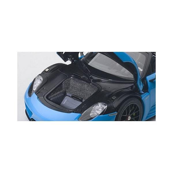 ポルシェ 918 スパイダー バイザッハ・パッケージ ライトブルー (1/18 オートアート77924)|v-toys|02