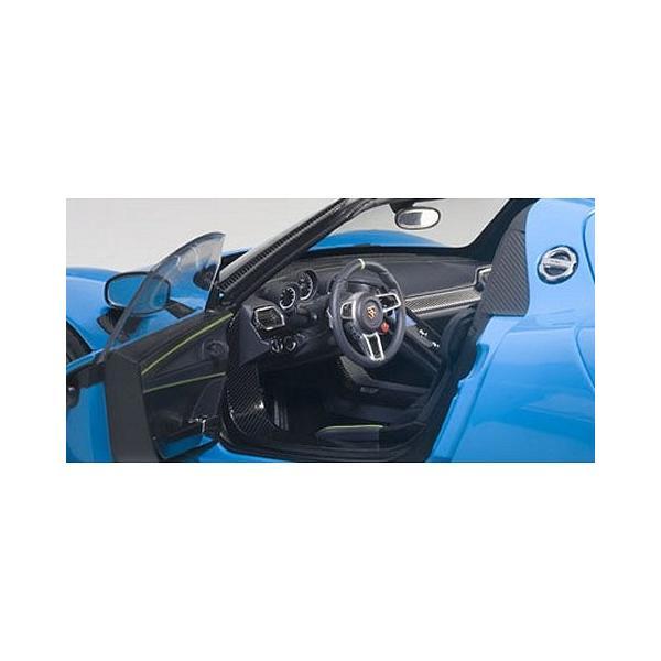 ポルシェ 918 スパイダー バイザッハ・パッケージ ライトブルー (1/18 オートアート77924)|v-toys|03