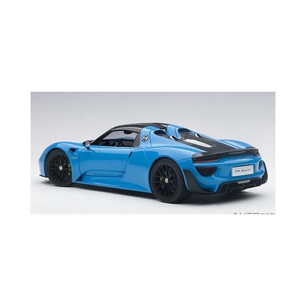 ポルシェ 918 スパイダー バイザッハ・パッケージ ライトブルー (1/18 オートアート77924)|v-toys|05