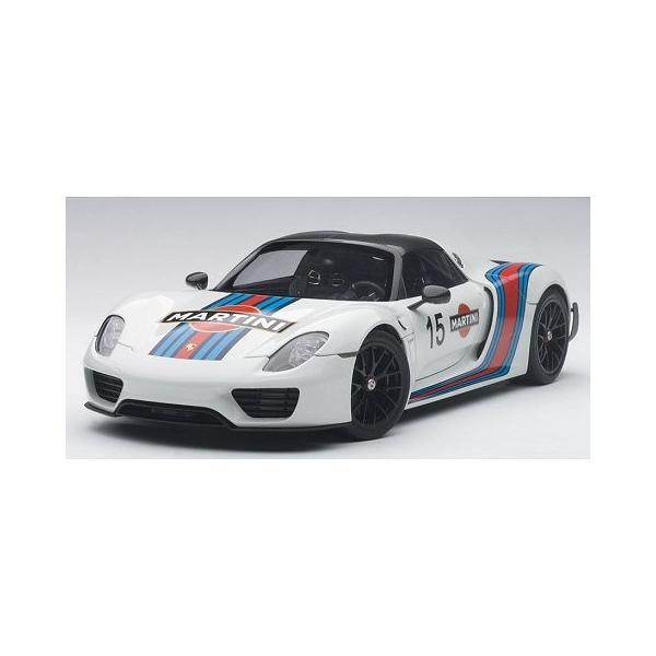 ポルシェ 918 スパイダー バイザッハ・パッケージ ホワイト/マルティニストライプ (1/18 オートアート77927)|v-toys