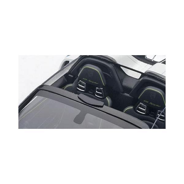ポルシェ 918 スパイダー バイザッハ・パッケージ ホワイト/マルティニストライプ (1/18 オートアート77927)|v-toys|03