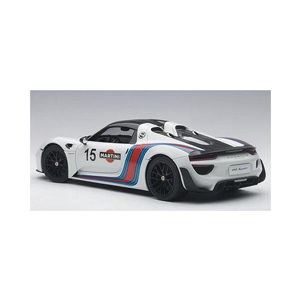ポルシェ 918 スパイダー バイザッハ・パッケージ ホワイト/マルティニストライプ (1/18 オートアート77927)|v-toys|04