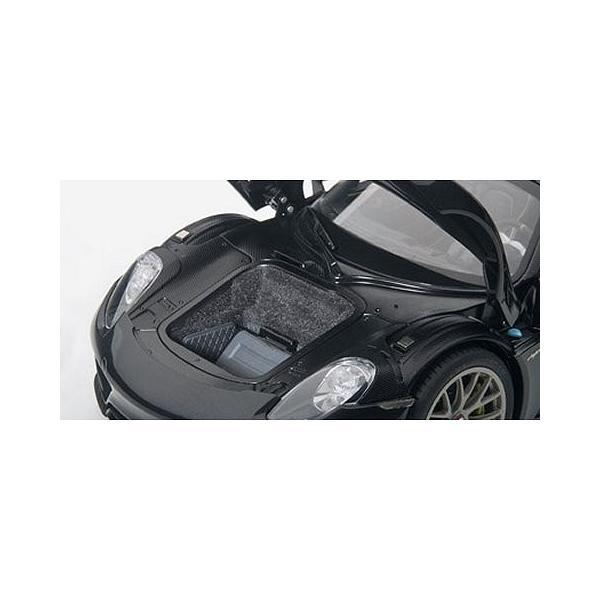ポルシェ 918 スパイダー バイザッハ・パッケージ ブラックM (1/18 オートアート77928)|v-toys|02