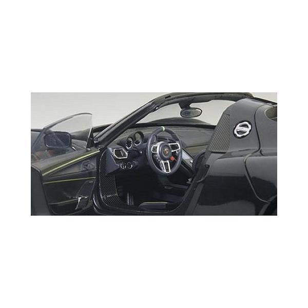 ポルシェ 918 スパイダー バイザッハ・パッケージ ブラックM (1/18 オートアート77928)|v-toys|03