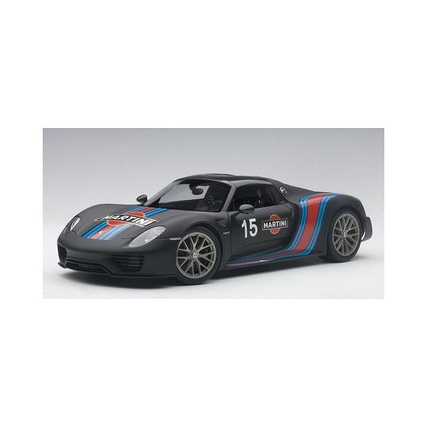 ポルシェ 918 スパイダー バイザッハ・パッケージ ブラック/マルティニストライプ (1/18 オートアート77929)|v-toys