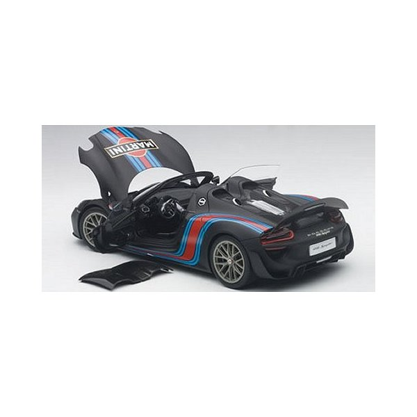 ポルシェ 918 スパイダー バイザッハ・パッケージ ブラック/マルティニストライプ (1/18 オートアート77929)|v-toys|03