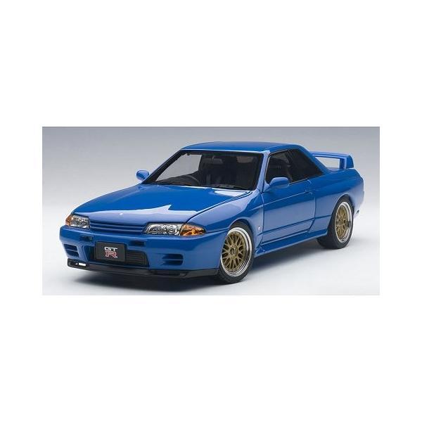 ニッサン スカイライン GT-R (R32) V-Spec II チューンド・バージョン ブルー (1/18 オートアート77415)|v-toys