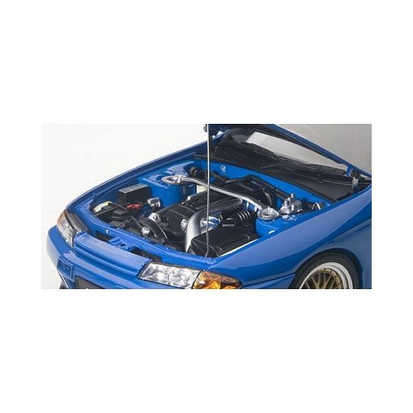 ニッサン スカイライン GT-R (R32) V-Spec II チューンド・バージョン ブルー (1/18 オートアート77415)|v-toys|02