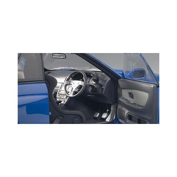 ニッサン スカイライン GT-R (R32) V-Spec II チューンド・バージョン ブルー (1/18 オートアート77415)|v-toys|03