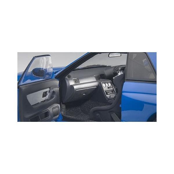 ニッサン スカイライン GT-R (R32) V-Spec II チューンド・バージョン ブルー (1/18 オートアート77415)|v-toys|04