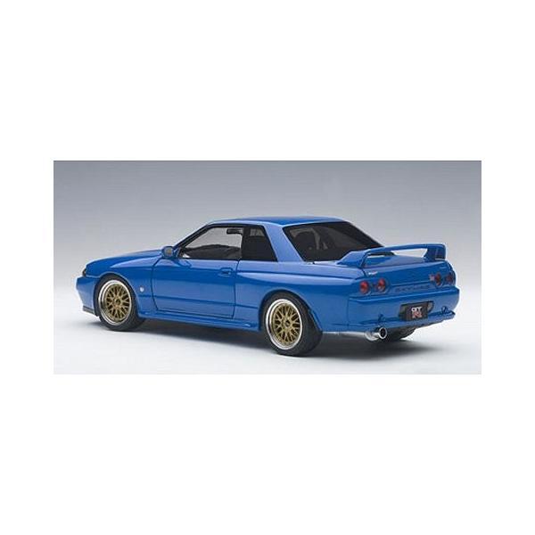 ニッサン スカイライン GT-R (R32) V-Spec II チューンド・バージョン ブルー (1/18 オートアート77415)|v-toys|05