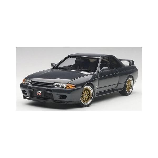 ニッサン スカイライン GT-R (R32) V-Spec II チューンド・バージョン ガングレーM (1/18 オートアート77417)|v-toys
