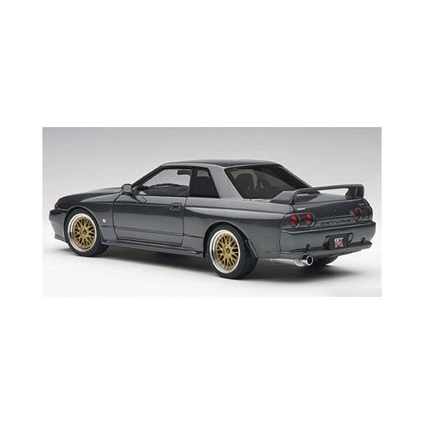 ニッサン スカイライン GT-R (R32) V-Spec II チューンド・バージョン ガングレーM (1/18 オートアート77417)|v-toys|05