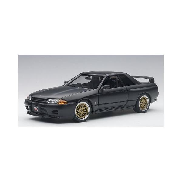 ニッサン スカイライン GT-R (R32) V-Spec II チューンド・バージョン マットブラック (1/18 オートアート77418)|v-toys