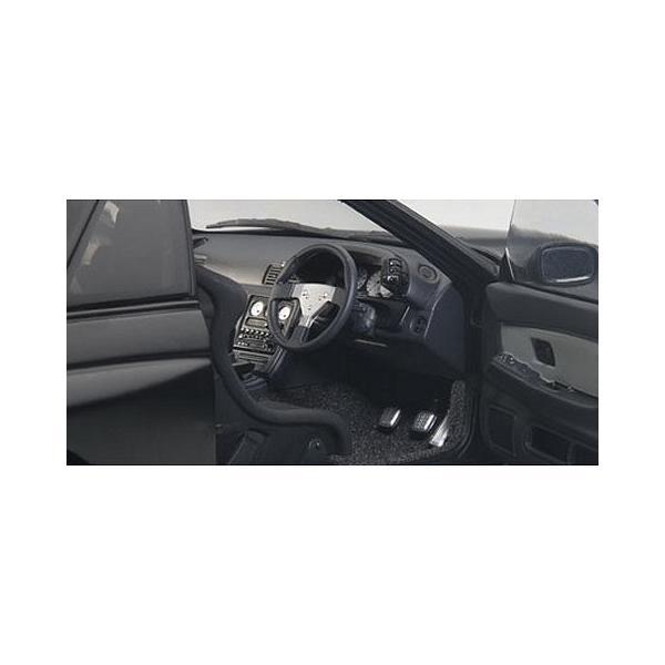 ニッサン スカイライン GT-R (R32) V-Spec II チューンド・バージョン マットブラック (1/18 オートアート77418)|v-toys|03