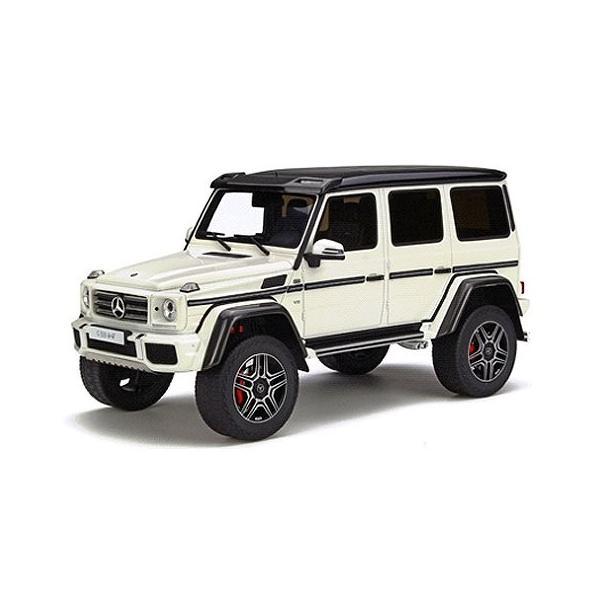 メルセデスベンツ G500 4×4(2乗) ホワイト (1/18 GTスピリット GTS142)|v-toys