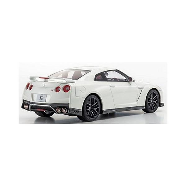 ニッサン GT-R 2017 ホワイトパール (1/18 京商KSR18020W)|v-toys|02