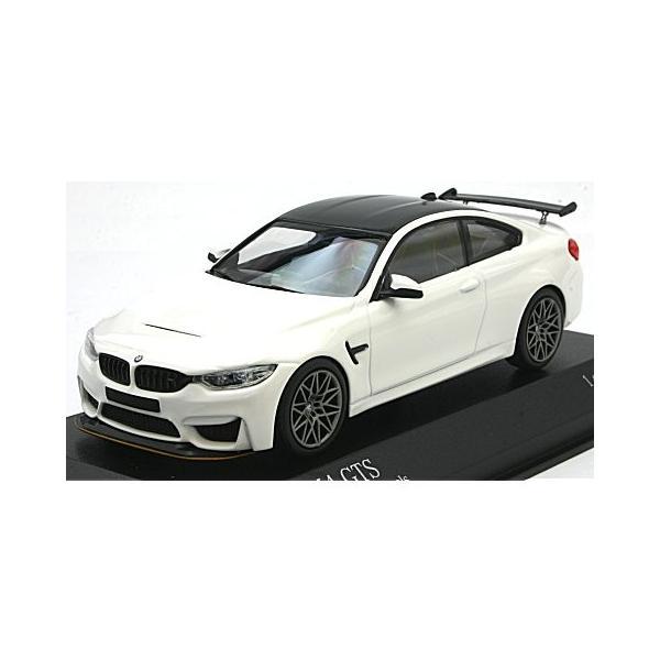 BMW M4 GTS 2016 ホワイト/グレーホイール (1/43 ミニチャンプス410025221)|v-toys