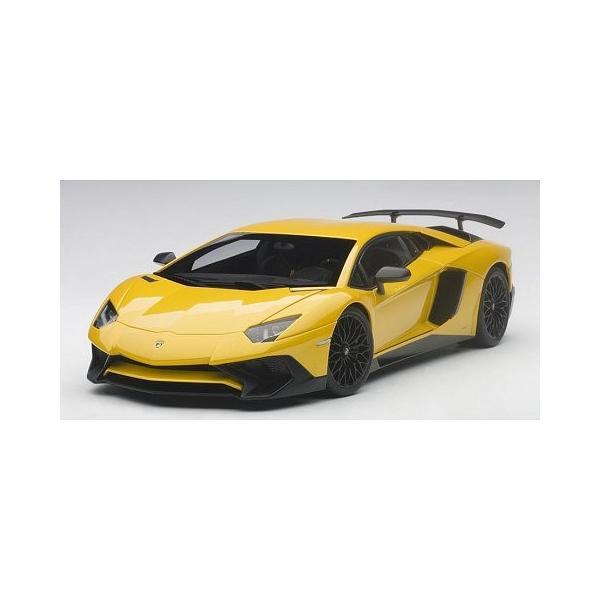 ランボルギーニ アヴェンタドール LP750-4 SV Mイエロー (1/18 オートアート74558)|v-toys