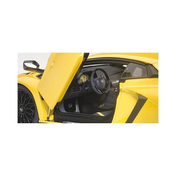 ランボルギーニ アヴェンタドール LP750-4 SV Mイエロー (1/18 オートアート74558)|v-toys|02