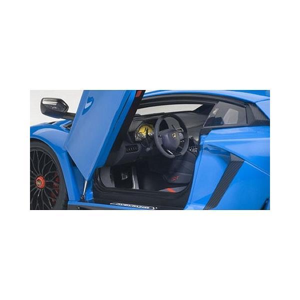 ランボルギーニ アヴェンタドール LP750-4 SV ブルー (1/18 オートアート74559) v-toys 02