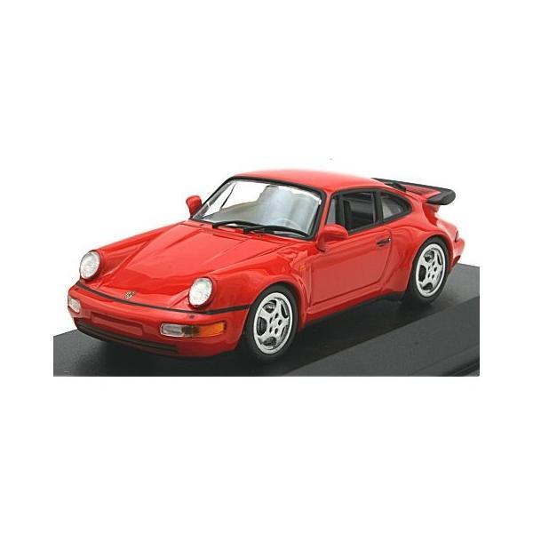 ポルシェ 911 ターボ (964) 1990 レッド (1/43 ミニチャンプス940069102)|v-toys
