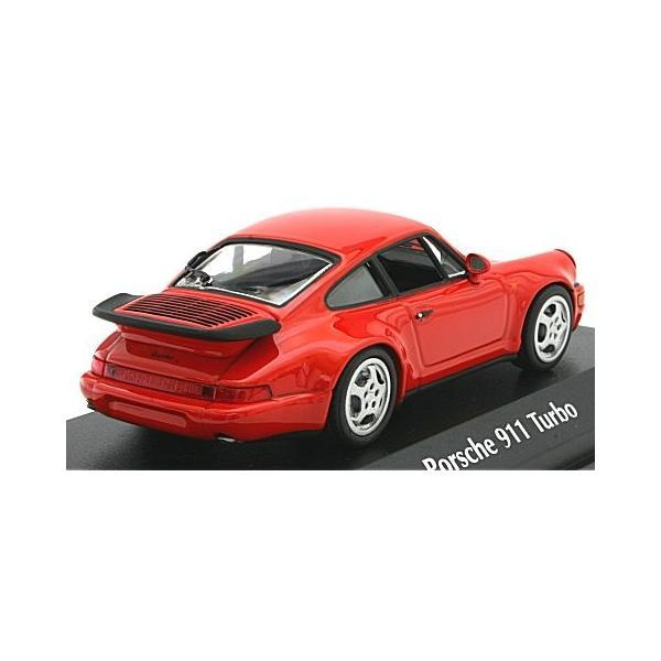 ポルシェ 911 ターボ (964) 1990 レッド (1/43 ミニチャンプス940069102)|v-toys|02
