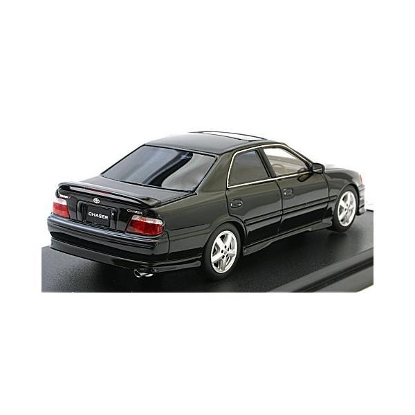 トヨタ チェイサー ツアラーV (JZX100) 後期型 ブラック(カスタムカラー) (1/43 マーク43 PM4382BK)|v-toys|02