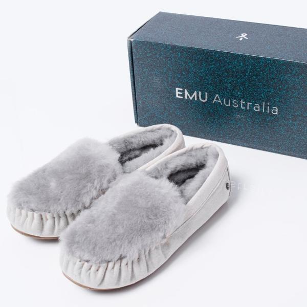 (エミュ)EMU AUSTRALIA CAIRNS FUR DENIM(ケアンズファーデニム)モカシンシューズ(EU版)(ライト) W6