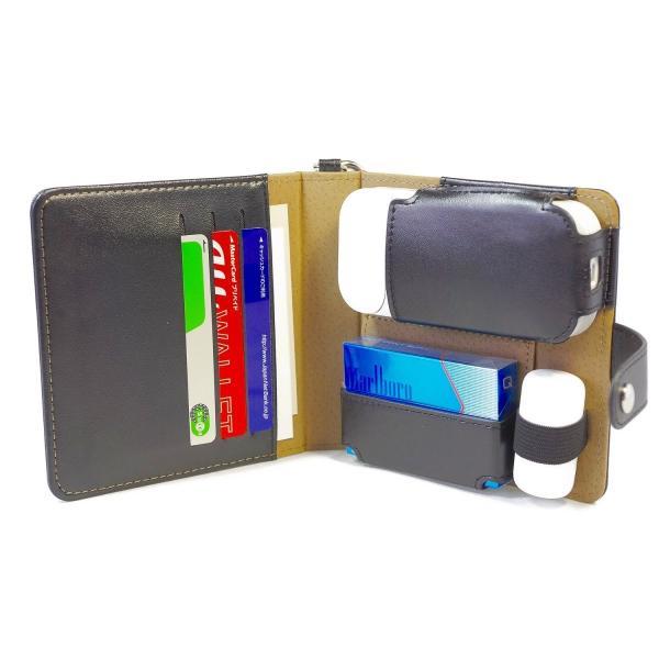 TPOS アイコスケース IQOSケース 手帳型 本体・ヒートスティック・クリーナーの収納可能 カードケース付き (ホワイト)|value-engineering|03