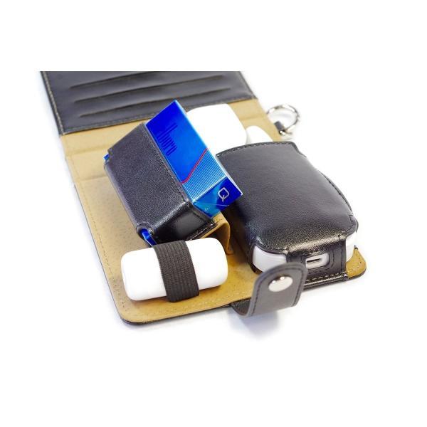 TPOS アイコスケース IQOSケース 手帳型 本体・ヒートスティック・クリーナーの収納可能 カードケース付き (ホワイト)|value-engineering|05