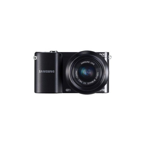 Samsung NX1000 20.3 Megapixel Compact System Camera with 20 - 50 mm Lens, Black (Body with Lens Ki
