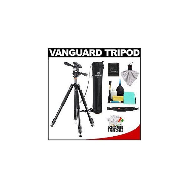 Vanguard バンガード Alta+ 263AP Aluminum Alloy Tripod 三脚 with PH-32 Panhead & Case with Cleaning