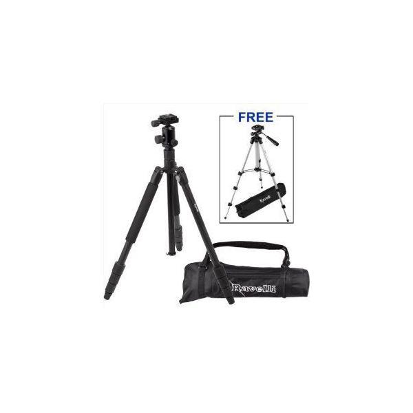 "Ravelli Professional 65"" Carbon Fiber 3 Axis Ball Head Camera Video Photo Tripod 三脚 with Quick R"