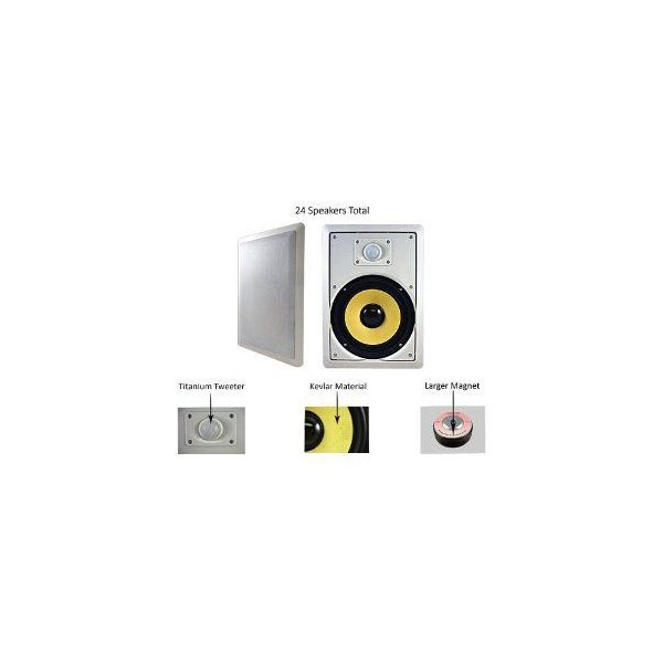 "AcousTIC アコースティック Audio オーディオ HD-800-24PKG 24-350 Watt 8"" In-Wall/Ceiling Speaker セ"