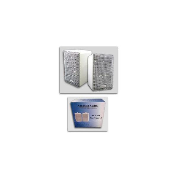 Acoustic Audio アコースティック オーディオ 251W 400 Watt Pair ペア White 3-Way Indoor/Outdoor Spea