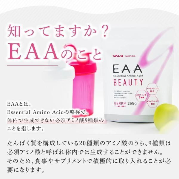 【お得な2個セット】EAA BEAUTY Produced by 山本義徳 255g ベリー風味 必須アミノ酸 VALX woman|valx|03