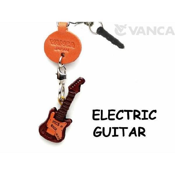 エレキギター/スマホピアス/携帯アクセサリー/バンカクラフト 革物語/VANCA CRAFT/本革/レザー/手作り/雑貨/革小物/日本製/グッズ/楽器/音楽